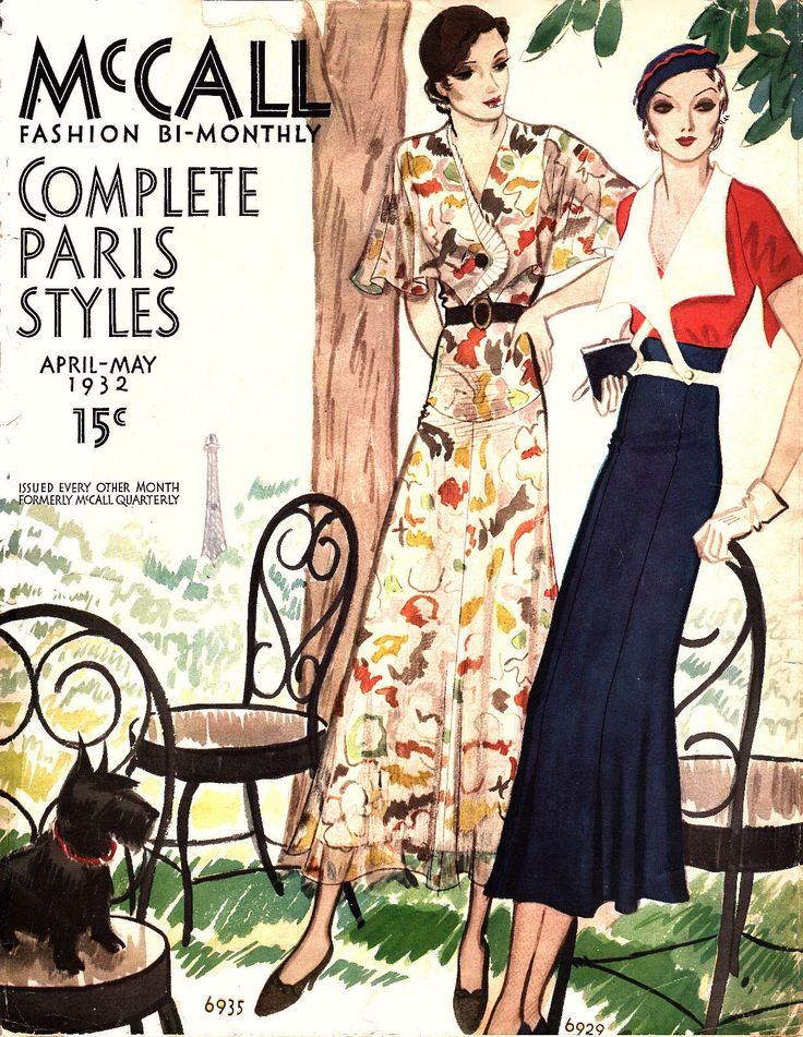 McCall 'Complete Paris Styles', April-May 1932 featuring McCall 6935 and 6929