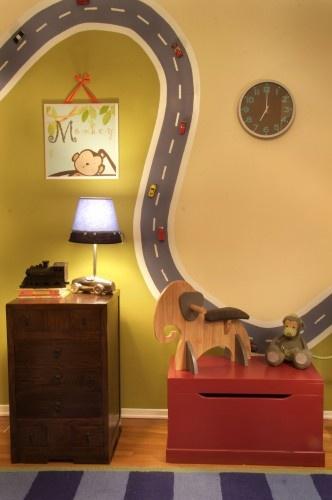 """Boys room """"cars on the wall"""""""
