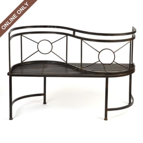 Black Metal Conversation Bench Gardens Metals And The O