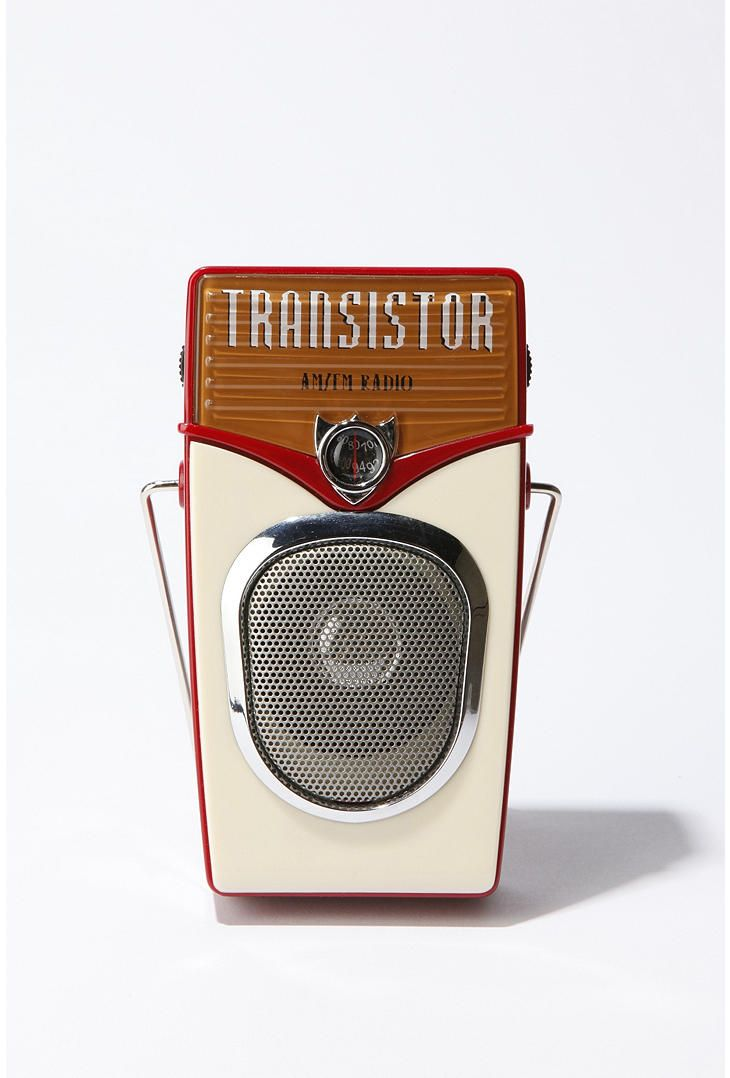 Modern retro-styled transistor radio got one from my high school College Prep