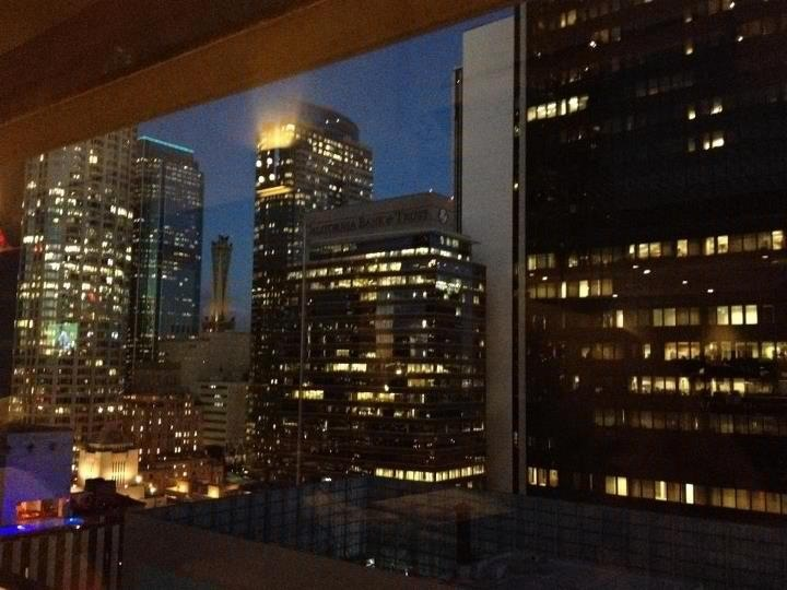 View of downtown from Takami Sushi & Robata LA On Wilshire