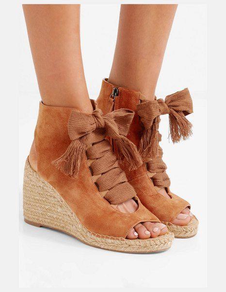 3024d021c Chloe harper lace-up suede espadrille wedge sandals. #chloe #nudeshoes # wedges