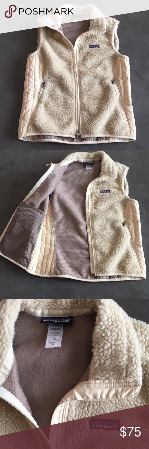 Patagonia fleece vest Cream colored Patagonia vest.  Clean. Hardly worn. Patagonia Jackets & Coats Vests