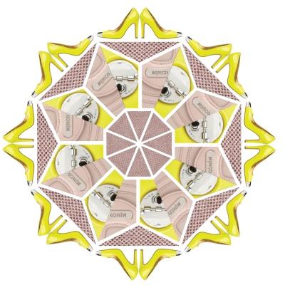 A gorgeous Mimco kaleidoscope by tastemaker Amanda Thomas. Create your own at www.socialkaleidoscope.com.au