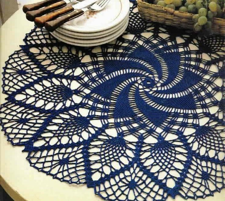 FREE DIAGRAM ~ ...................................... Crochet Art: Lace Doily - Pineapple Crochet Lace Doily                                                                                                                                                                                 More