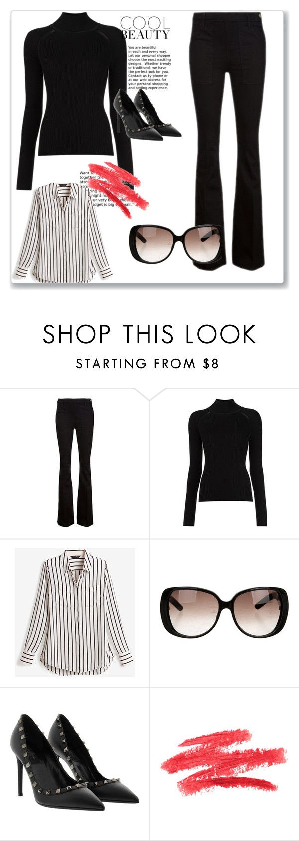"""Черная водолазка 7"" by izolda06 on Polyvore featuring мода, Frame Denim, Misha Nonoo, White House Black Market и Gucci"