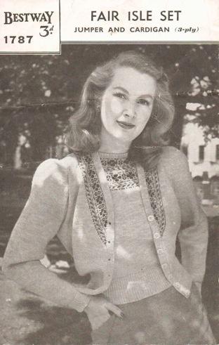 70 best Vintage knitting patterns - twinsets. images on Pinterest ...