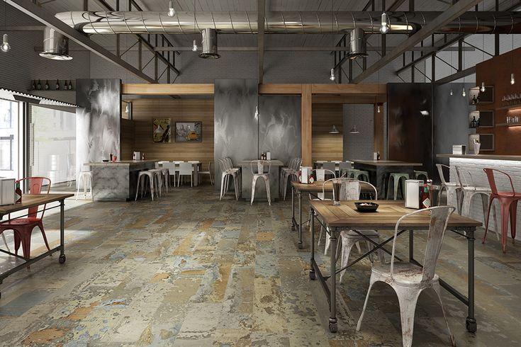 Colección REMIND 25x100 un pavimento rompedor dentro de la moda VINTAGE POR cerámica Aparici Cerámica