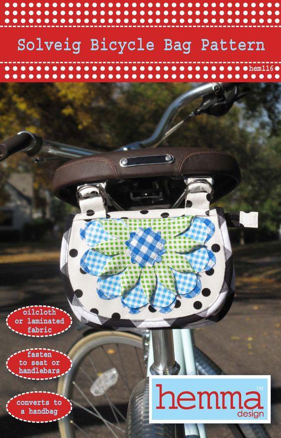 Solveig Bicycle Bag Pattern - Hemma Designs