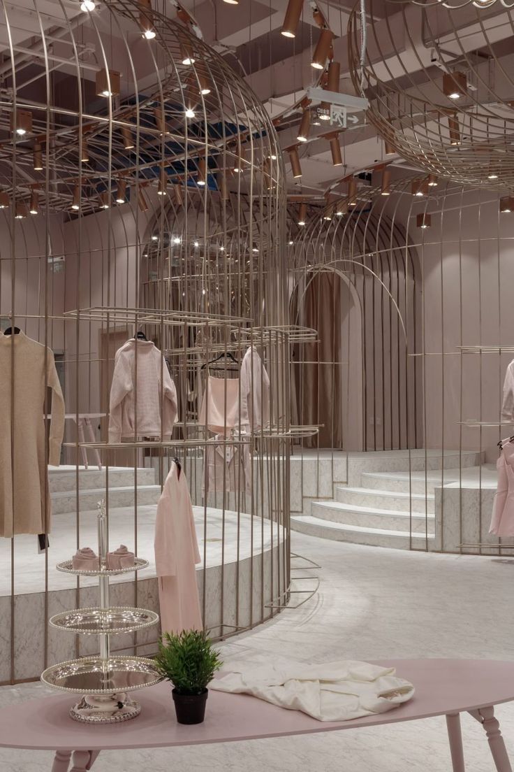 X+Living designs four themed fitting rooms for women's clothing store in China