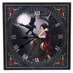 Horloge Murale - Ange sombre avec Corbeau