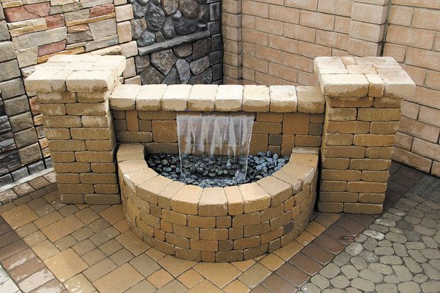 17 Best Images About Retaining Wall Fountain Ideas On