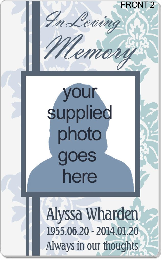 10 best Plastic Memorial Cards - Obituary Cards - Funeral Cards - 35 printable obituary