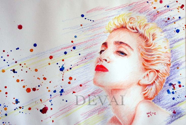 Grafik:Alex Devai Color Pencil, aquarell Madonna