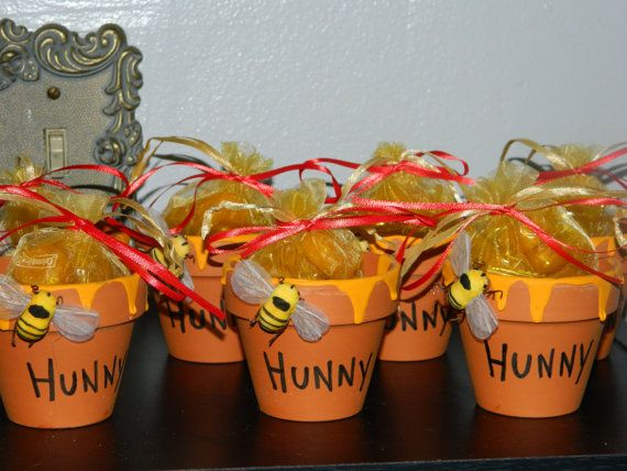 Winnie The Pooh Hunny Pot Favor By Missiriscreations On Etsy 5 00 Baby Stuff Pinterest