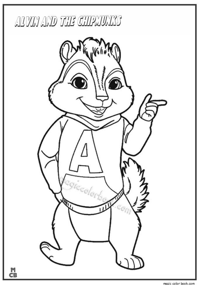 Mejores 28 imágenes de Alvin and Chipmunks Coloring pages en ...