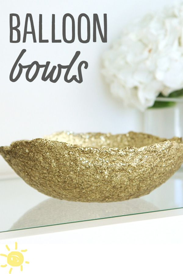 Diy balloon bowls balloon bowl crafts glitter diy for Glitter balloon bowl