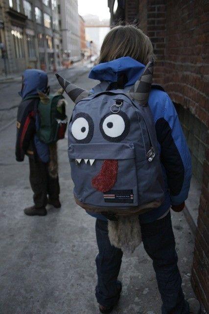 CUSTOM Monsterpak monster backpack (Your design) - Monsterpaks, etsy  SOO CUTE!