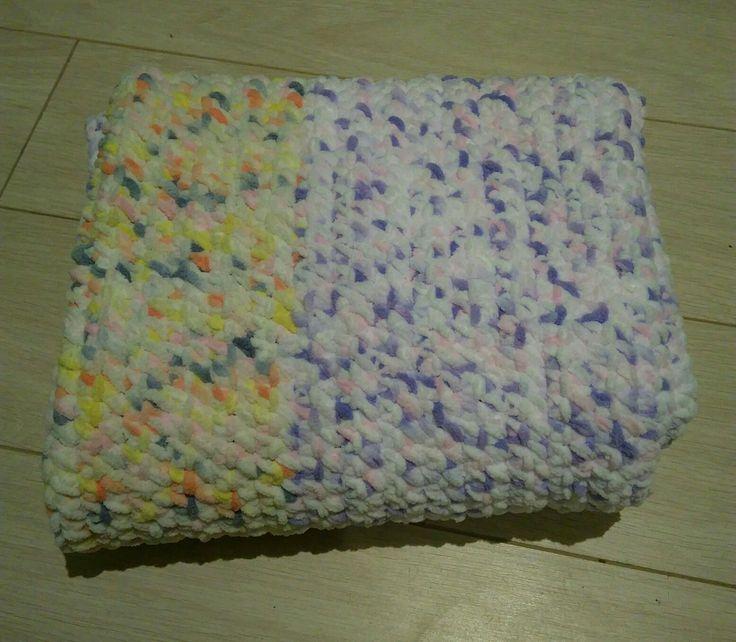 Kocyk szenilowy /chenille blanket #blanket #koc #kocyk #socrafty #baby #babyyarn