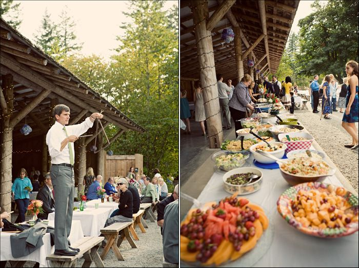 Potluck wedding reception. What a wonderful idea! ... Kind of along the lines of what I was thinking ...