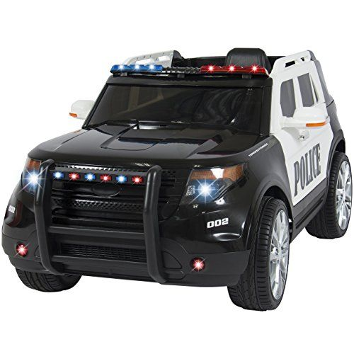 best choice products ford style 12v ride on car police car w remote control 2 speeds led lights big kids cars pinterest police cars kids cars and