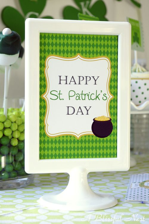 St Patricks Day party collection by A Blissful NestSigns St Patricks, Parties Collection, St Patricks Day, Perfect Parties, Bunko Ideas, Parties Ideas, Party Ideas