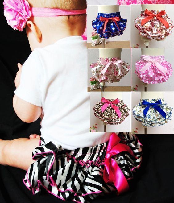 Шорты бесплатная доставка детские рюшами шаровары слои пеленки младенца крышки новорожденных подарок цветок с юбками малыш милый летние брюки атласа