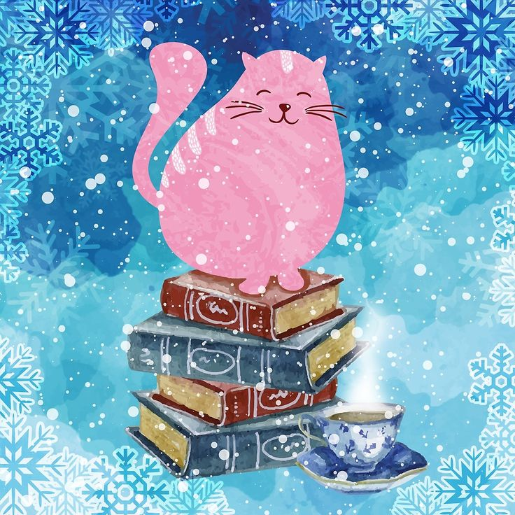 Bookish Cat in Winter (by evieseo)