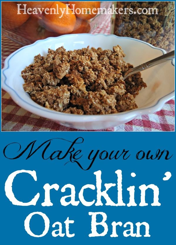 Make your own Cracklin' Oat Bran Cereal with whole ingredients (4.5 cups oats = 13 3/4 oz oat flour)