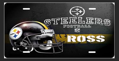 Steeler License Plate- Personalized