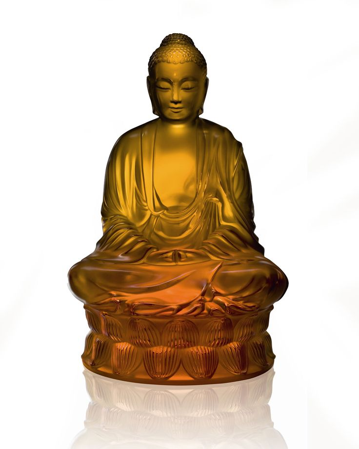 Amber Buddha Figure by Lalique at Neiman Marcus.