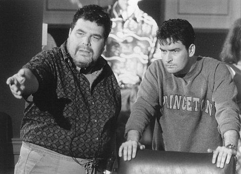 Charlie Sheen and George P. Cosmatos in Shadow Conspiracy (1997)