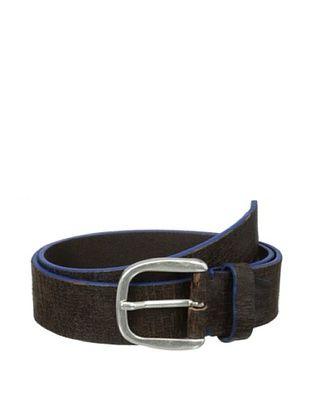 71% OFF Bolliver Men's Painted Cracked Belt (Blue/Brown)