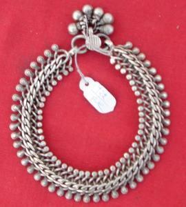 Antique Ethnic Tribal Old Silver Jewellery Anklet Bracelet Rajasthan India   eBay