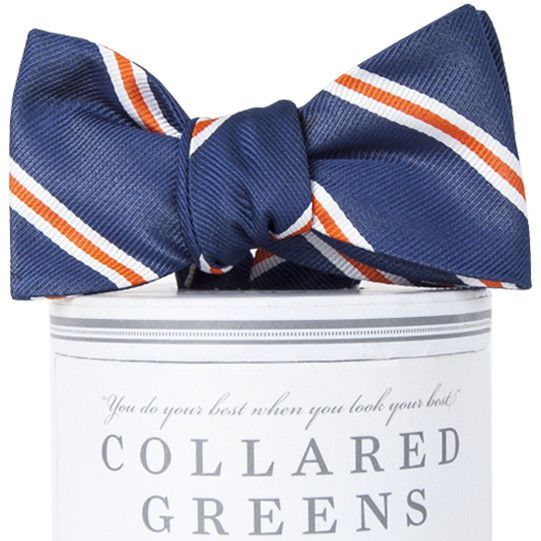 The Martin Bow Tie in Navy and Orange by Collared Greens