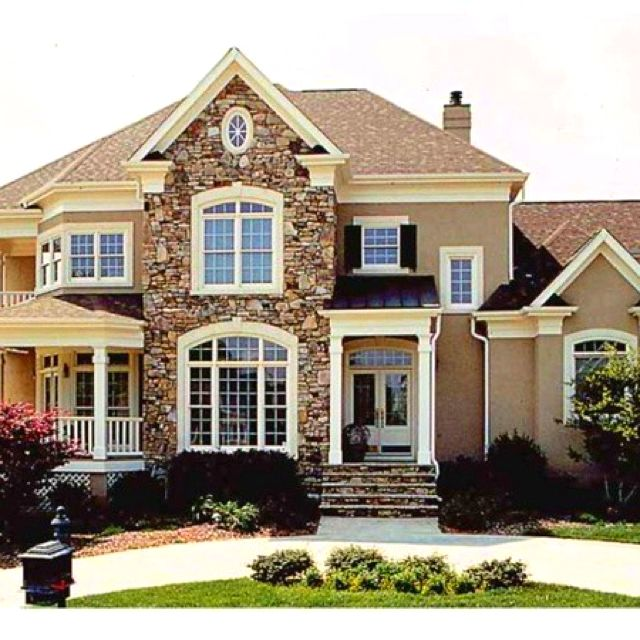 such a cute house i love the color combinations of stone and stucco rh pinterest com  cute big houses inside
