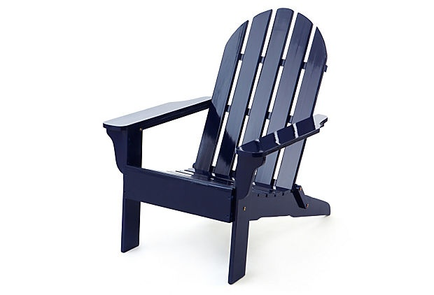 Superb #OKLsummer   An Iconic American Classic, This Adirondack Chair Is Super  Chic With Its Glossy Navy Blue Finish | Pinterest | Kings Lane, Patios And  Porch