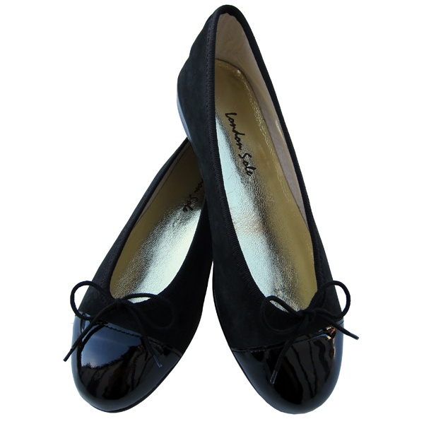 London Sole Simple Black Ballet Flats. Worn by Kate on a trip to Waitrose Grocery on 5/7/11. Available for $165 at londonsole.com.