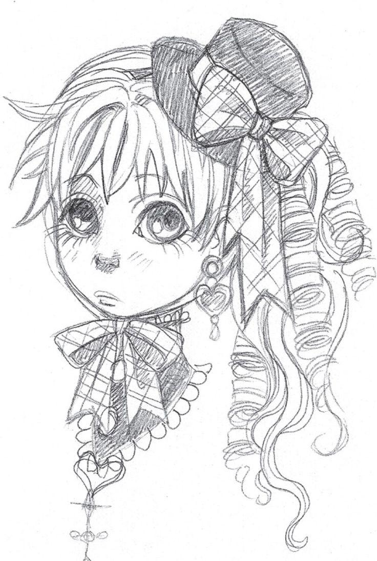 Sketch petite Charlotta image gratuite a imprimer par Dar Chan