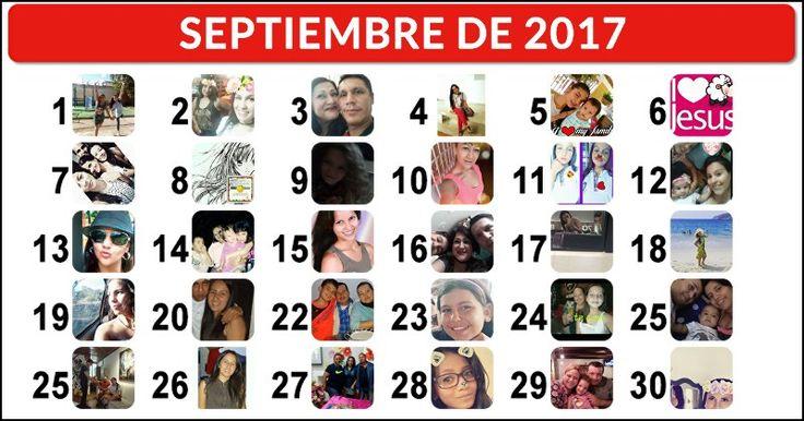 ¡Crea tu calendario de septiembre con 30 amigos!