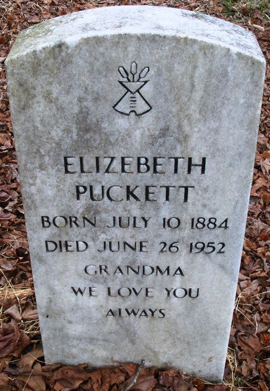 """Elizebeth Wright Puckett's headstone has the tipi symbol of the Native American Church of North America, as sanctioned by the Dept of Veterans Affairs. Wiki:  """"Originally formed in Oklahoma in the late 1800s, the Native American Church is a monotheism, believing in a supreme being, called the Great Spirit. The tenets of the Native American Church regard """"peyote"""" as a sacred and holy sacrament and use it as a means to communicate with the Great Spirit (God)."""" #gravestone #tombstone…"""