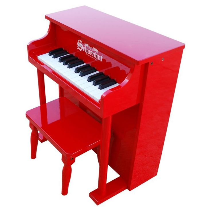Schoenhut 25 Key Red Traditional Spinet Piano - 6625R
