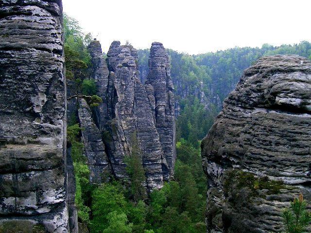 Elbsandsteingebirge in Sachsen