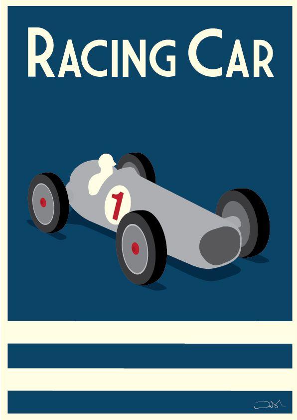 #racingcar #childrensart #childrensposters #artforboys #poster #posterart #racing #cars #childrensdesign #grandprix#art #illustration #alanwalsh #alanwalshart