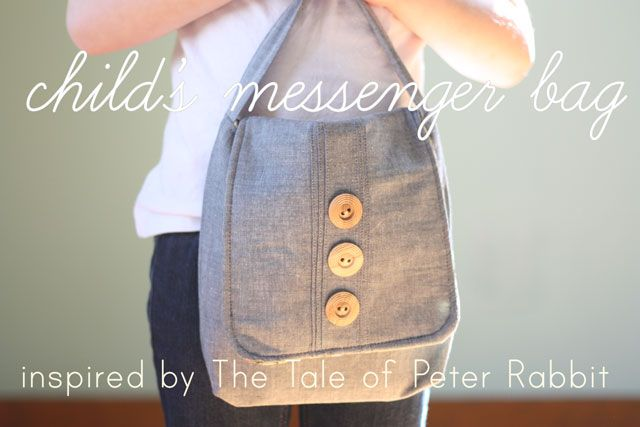 Oh I love just how cool this bag looks AND that you could totally add the Tale of Peter Rabbit to it to make a complete gift.  LOVE this tutorial.  Very well done!