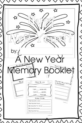 Free New Years Memory Booklet (and Countdown Booklet and ABC Booklet) from Royal Baloo