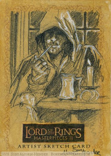 lotr strider concept art | he's known as Strider' Topps Lord of the Rings LotR Masterpieces 2 ...