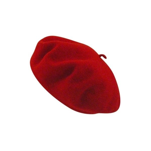 Betmar French Beret ($17) ❤ liked on Polyvore featuring accessories, hats, cappelli, red, headwear, red beret, red beret hat, betmar hats, betmar and beret hat