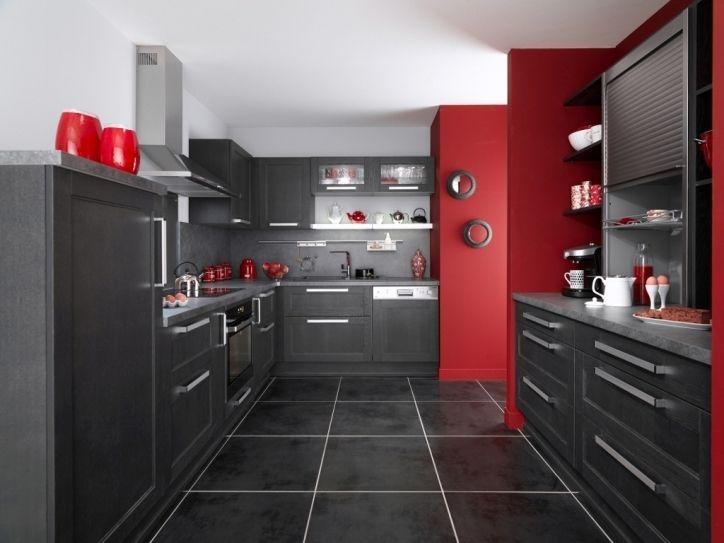 Haut Elegant Comme Superbe Cuisine Rouge Noir Et Gris Dans Bastia Cuisine Rouge Cuisine Rouge Et Noir Cuisine Rouge Et Gris