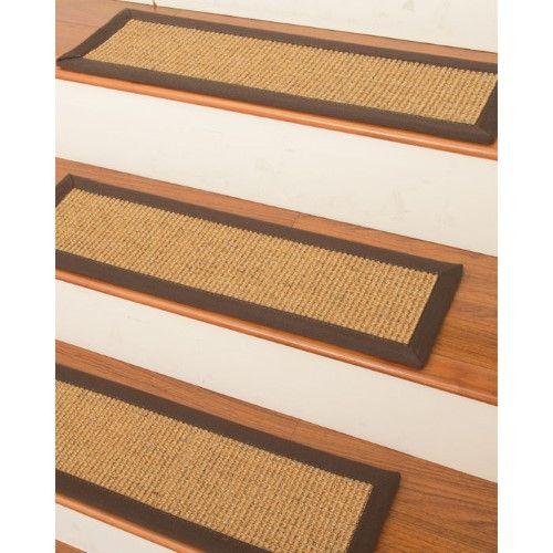 Best Studio Sisal Carpet Stair Treads Set Of 13 Beige 640 x 480